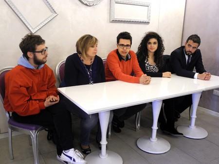 da sx: Roberto Tesei, Teresa Lambertucci, Pietro Casalotto,