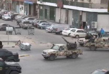 I carri armati a Tripoli