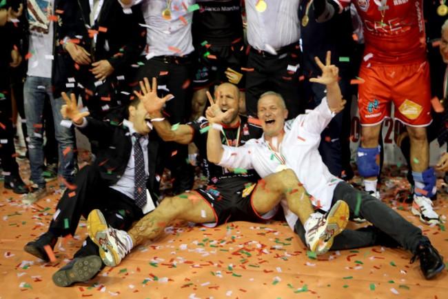 La Lube festeggia la conquista del tricolore