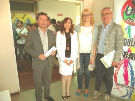 (da sinistra) Paolo Cartechini Tiziana Marozzi Irene Manzi e Romano Carancini