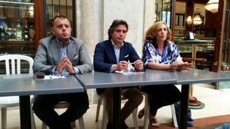Riccardo Sacchi, Fabio Pistarelli e Deborah Pantana