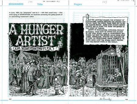 Copertina-del-racconto-un-artista-del-digiuno-realizzato-da-Robert-Crumb-nel-fumetto-Kafka