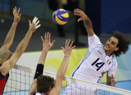 Alessandro Fei con la maglia dell'Italia