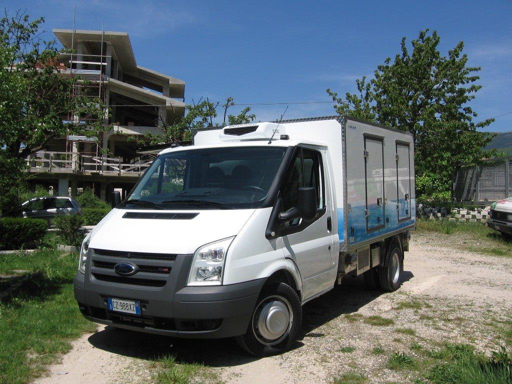 Il furgone di Pietro Sarchiè