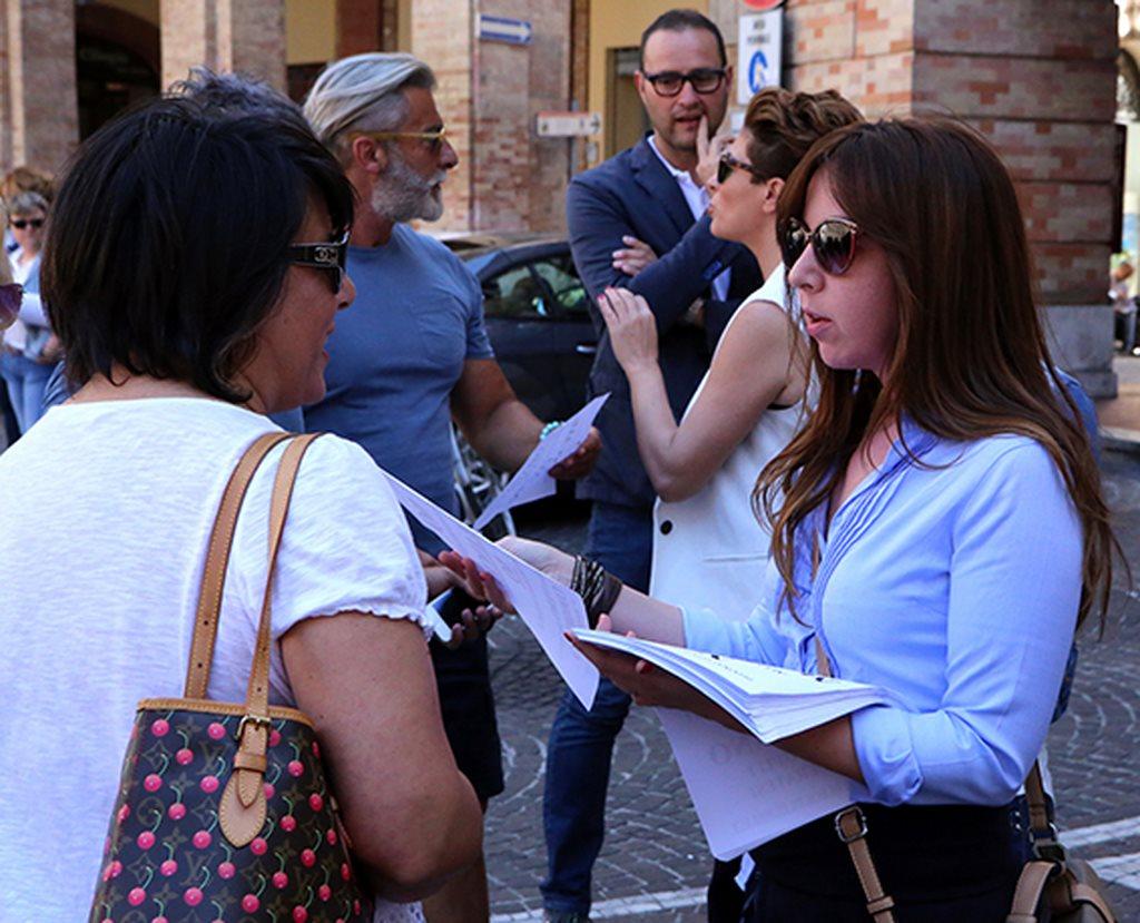 Protesta commercianti Carancini centro storico Macerata (2)