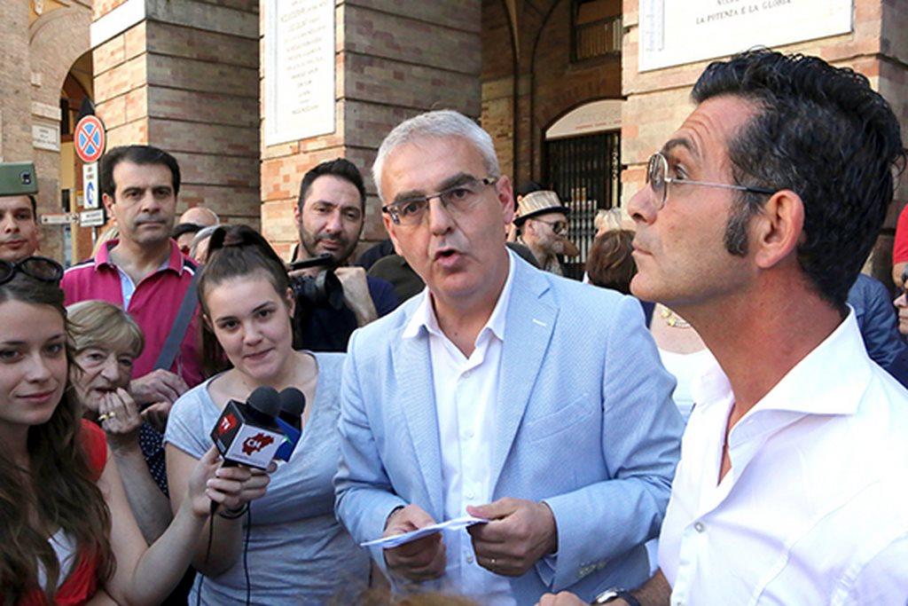 Protesta commercianti Carancini centro storico Macerata (22)