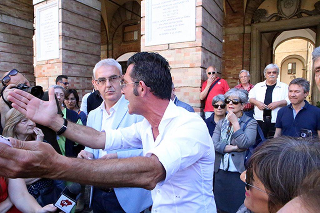 Protesta commercianti Carancini centro storico Macerata (23)