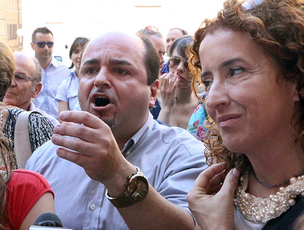 Protesta commercianti Carancini centro storico Macerata (27)