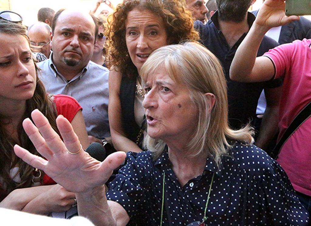 Protesta commercianti Carancini centro storico Macerata (28)
