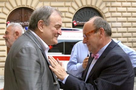 Giuliano Bianchi a Symbola con Carlo Cambi