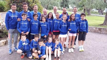 Il gruppo dei tennisti maceratesi