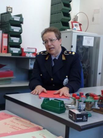 Il comandante della polizia municipale Daniela Cammertoni