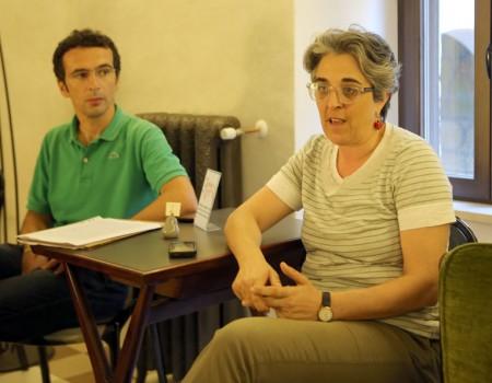 Letizia Carducci della condotta Slow Food e Alberto Cicaré di Ciclostile
