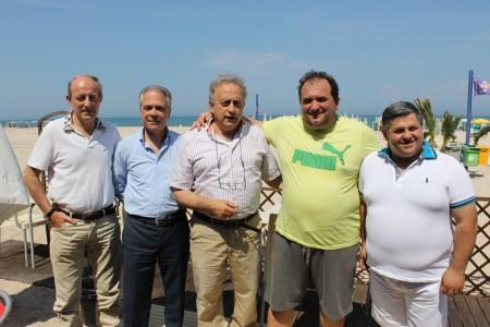 nella foto da sinistra Maurizio Marinelli, Franco Garbuglia, Edoardo Giordano, Claudio Pini, Antonio Malaccari