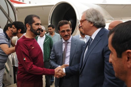 Il primo ministro e vicepresidente degli Emirati Arabi Uniti e governatore di Dubai, Sheik Mohammed bin Rashid Al Maktoum,