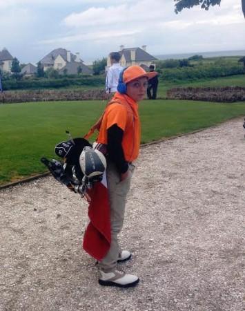 il giovane golfista Flavio Michetti