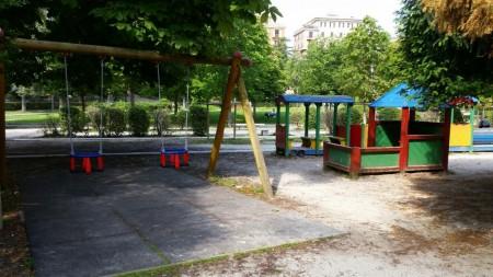 L'area giochi dei giardini Diaz