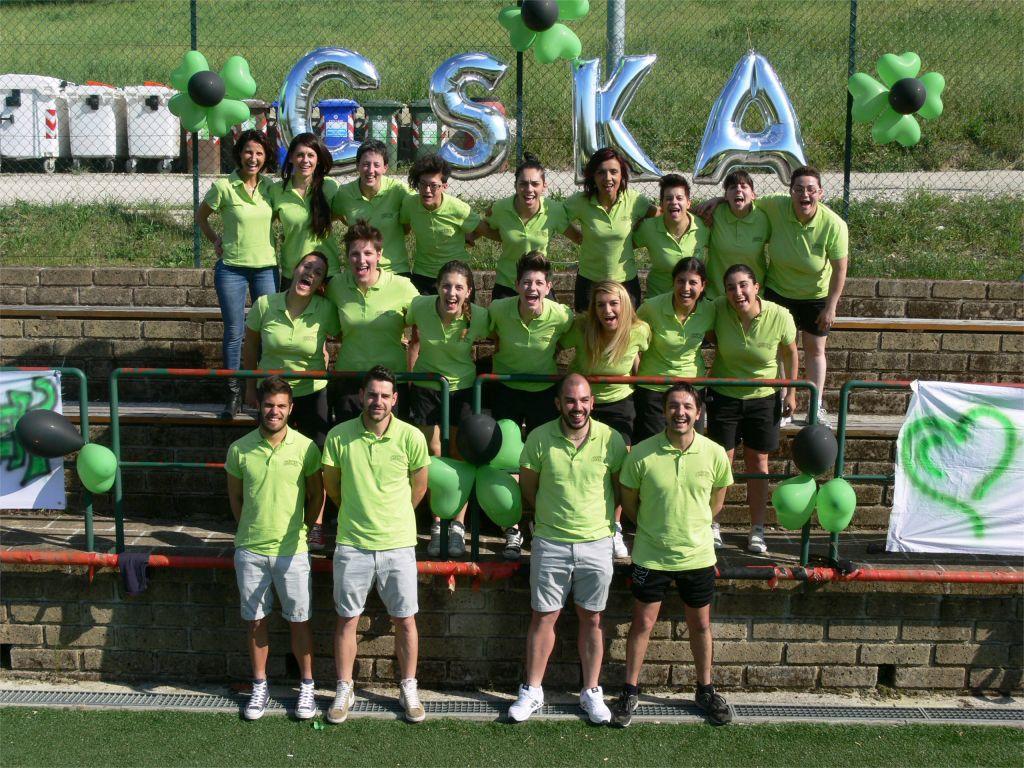 La squadra del Cska Corridonia femminile al completo