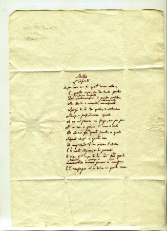 Il manoscritto di Leopardi