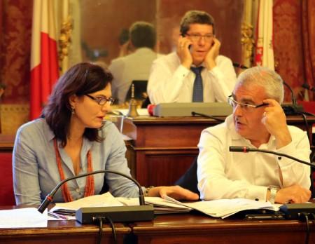 Il sindaco Carancini e l'assessore Monteverde