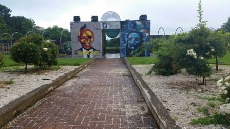 L'ingresso del ParkSì dai giardini Diaz