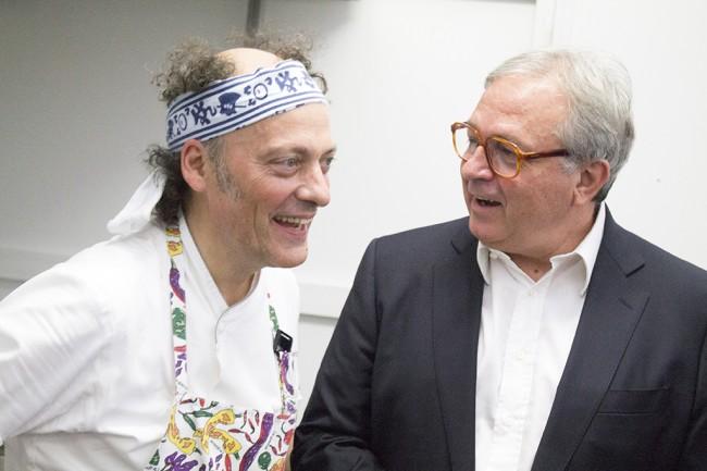 lo chef Moreno Cedroni e Gian Mario Spacca