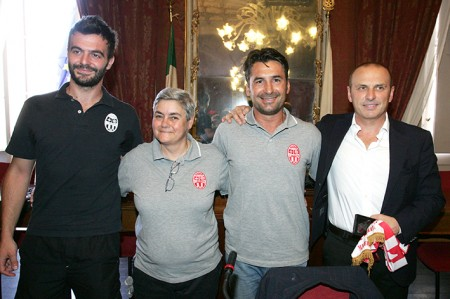 Mattia Benfatto, Maria Francesca Tardella, Giuseppe Magi e Sandro Teloni