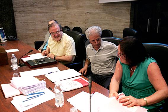 Giuliano Bianchi con il segretario della Camera di Commercio, Mario Guadagno, e la dirigente Maria Leonori