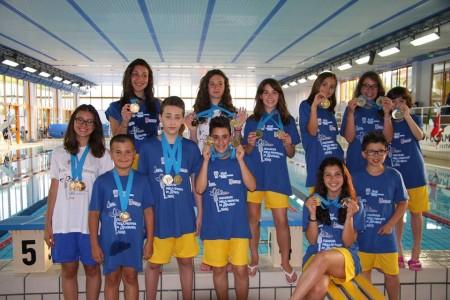 Gli atleti della Salus Nuoto