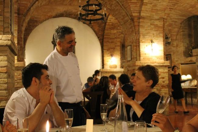 Mauro Uliassi insieme alla collega Rosaria Morganti del ristorante I due cigni