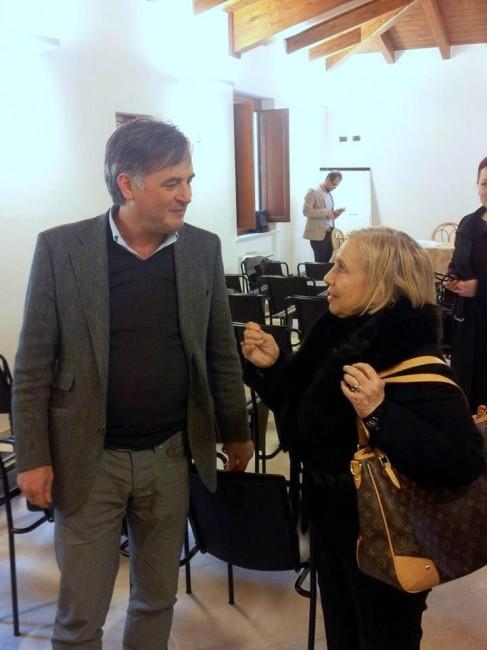 L'architetto Giancarlo Biagioli e Lidya Karmaliuk della Coneroblu