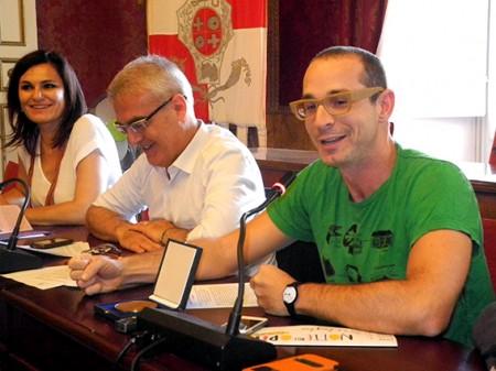 il sindaco Carancini e il direttore artistico Micheli
