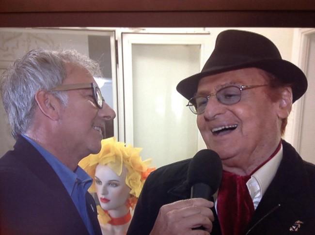 Paolo Notari, promotore dell'iniziativa e Renzo Arbore