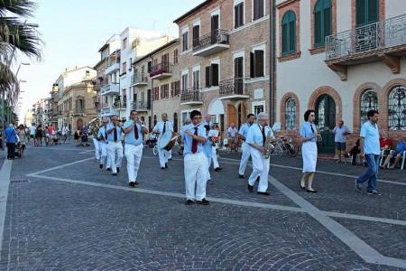La Banda G. Verdi durante le celebrazioni della Madonna del Soccorso