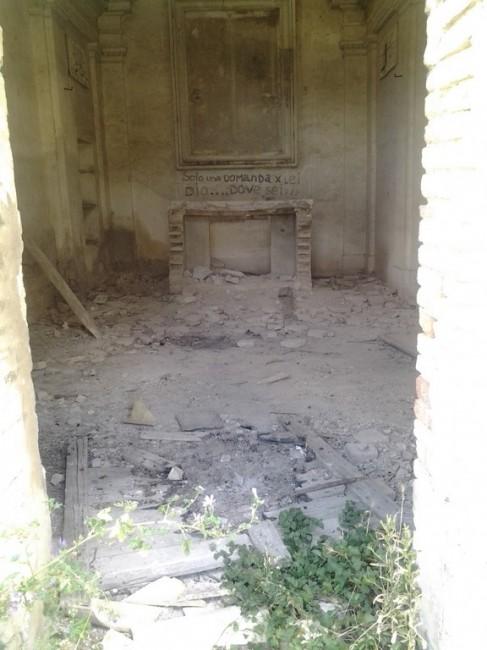 L'interno della chiesa sconsacrata
