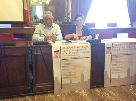 Il sindaco Romano Carancini e il vicesindaco Federica Curzi