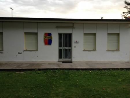 La sede della Civitanovese, nel pomeriggio desolatamente vuota