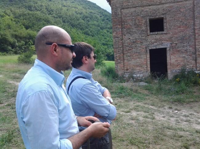 Gli avvocati Sartini e Vannini sul luogo del ritrovamento