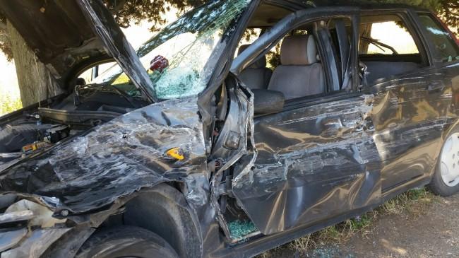 La Fiat Punto coinvolta nell'incidente