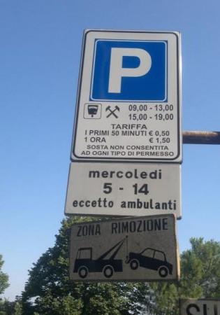 Il segnale apparso in via Berardi