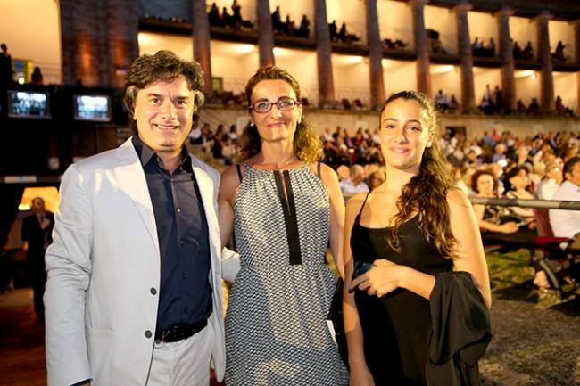 il rettore di Unicam Flavio Corradini con la famiglia