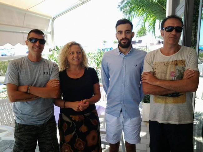 Marco Sembroni, Fernanda Recchi, Pasquale Piscitelli e Paolo Sabatini questa mattina in conferenza stampa