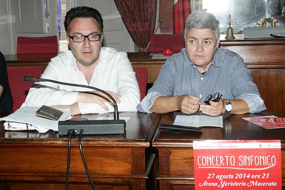 l'assessore provinciale Massimiliano Bianchini e la presidente Maria Francesca Tardella