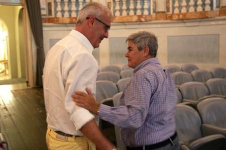 Il sindacoRomano Carancini insieme alla presidentessa della Maceratese Maria Francesca Tardella, la scorsa estate
