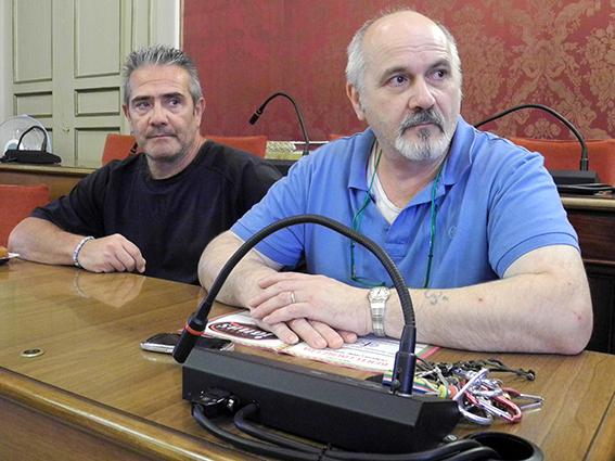 I rappresentanti dei commercianti Andrea Venturino (centro) e Giacomo Berdini (corso Cairoli)