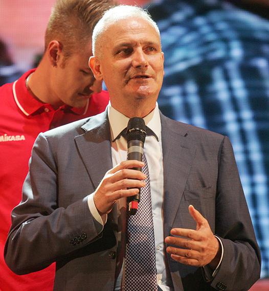 Il patron della Lube Fabio Giulianelli