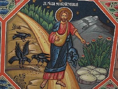 La parabola del seminatore in un'icona ortodossa