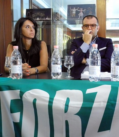 I coordinatori comunale e provinciale Riccardo Sacchi e Lorena Polidori