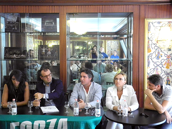 Da sinistra Lorena Polidori, Riccardo Sacchi, Fabio Pistarelli, Deborah Pantana e Francesco Luciani