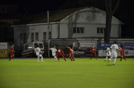 Una fase del match Tolentino-Ancona